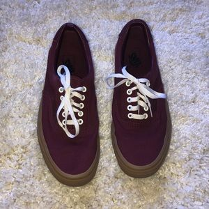 Men's classic Vans shoes sneakers size 12 burgundy